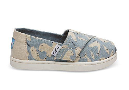 Price comparison product image TOMS Kids Baby Girl's Alpargata (Infant/Toddler/Little Kid) Birch Tundra Critters 11 M US Little Kid