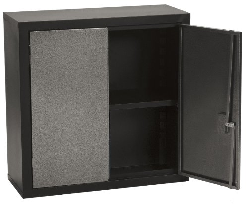 Edsal WCS123131 Textured Silver and Black Steel Wall Cabinet, 1 Adjustable Shelf, 30