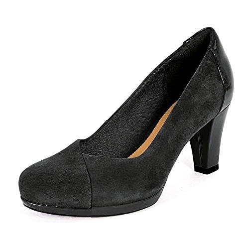 Clark Carol Koor Breed Hofdames Schoenen Zwart