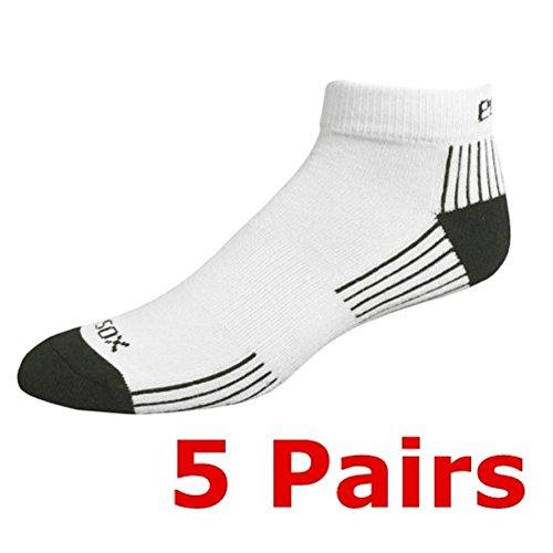 Bamboo Socks Anklet Set of 5, Medium 9-11 White/Black