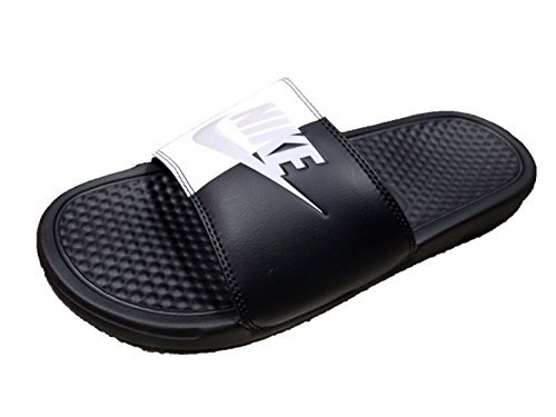 NIKE Women's Benassi JDI Slide Sandals (7 B(M) US, Black/PurePlatinum/Black)