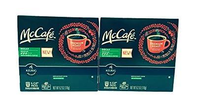 McCafé Decaf Premium Roast Coffee K-Cup Packs, 6.2 oz - 18 count (2-pack) = 36 total count