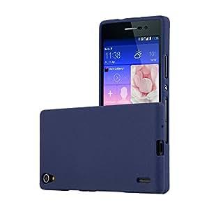 Cadorabo Funda para Huawei P7 en Frost Azul Oscuro - Cubierta Proteccíon de Silicona TPU Delgada e Flexible con Antichoque - Gel Case Cover Carcasa ...