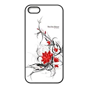 02-Scattered Flowers-Pattern- the For Ipod Touch 5 Case Cover Ipod Touch 5-NOT THEIpod Touch 5!!!-Hard Black Plastic Outer Case with Tough Black Hard Lining