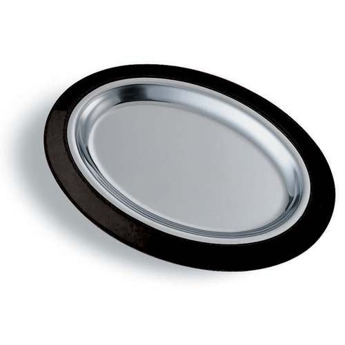 - Service Ideas RO128SS Thermo Plate Insert, Oval, Stainless Steel