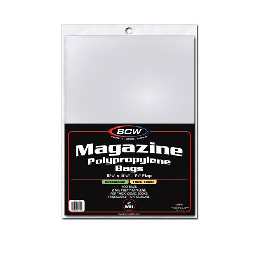 BCW 1-MAG-R-THICK Resealable Magazine Bags - Thick
