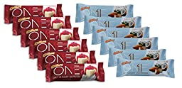 Oh Yeah! One Bar ZfXhH - 6 Almond Bliss and 6 White Chocolate Raspberry (12 Count)