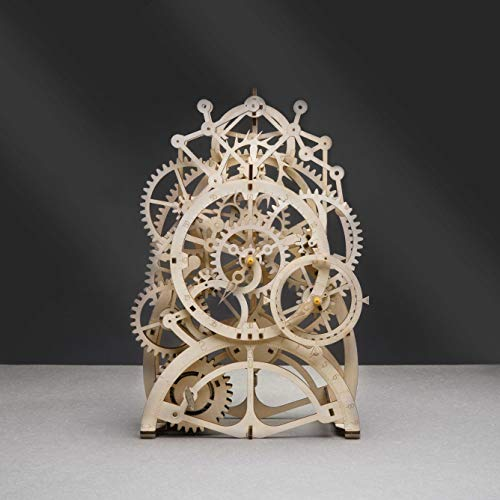 RoWood Mechanical Gear 3D Wooden Puzzle Craft Toy, Best Gift for Adults and Teens, Age 14+ DIY Model Building Kits - Pendulum Clock