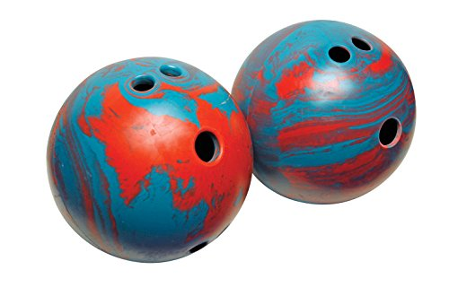 Champion Sports Rubber Bowling Ball: Lightweight Soft Ball for Training & Kids Games - Weighted Set Bowling