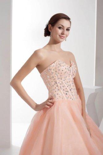 Kleid Empfang Rosa Abendkleid BRIDE Prinzessin Schatz Schoene GEORGE Perlen wHqYXZZ