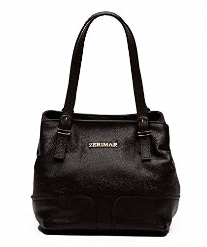 Handbag 5 Leather For Brown Light Size Women Zerimar Colour Shopper 5x28x17 Large Black Handbags 27 xY4qTpwR