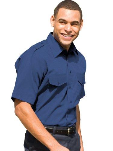 Safari Shirt Dress (Ed Garments 1215 Short Sleeve Safari Shirt - Royal - Medium)