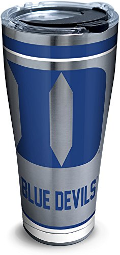 Tervis 1298186 NCAA Duke Blue Devils Tradition Stainless Steel Tumbler, 30 oz, Silver Duke Blue Devils Ice