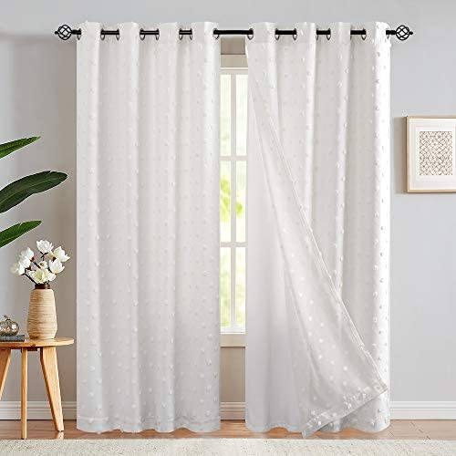jinchan Curtains Embroidered