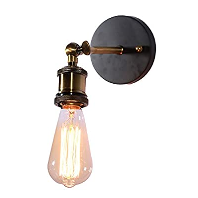 MY CANARY Vintage Industrial Wall Sconce Light, Metal Home Wall Decor Simple Single Swing Wall Lamp, Retro Rustic Light Fixtures Lighting