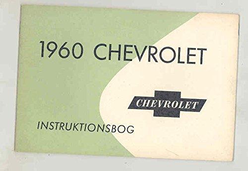 1960 Chevrolet ORIGINAL NOS Owner's Manual Denmark Export Danish Danish Export
