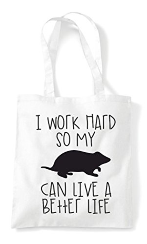Hamster My Better Cute Tote Shopper Life Can Have So Work Bag I Themed Funny A White Hard Animal wqC8xIt