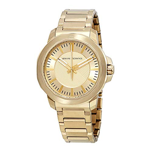 s Quartz Stainless Steel Casual Watch, Color:Gold-Toned (Model: AX1901) ()