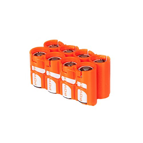 Storacell by Powerpax CR123 Battery Caddy, Orange, Holds 8 Batteries by Storacell