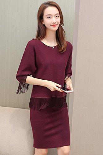 Amazon Com Modern Suit Female 2018 Autumn New Korean Fashion Knit