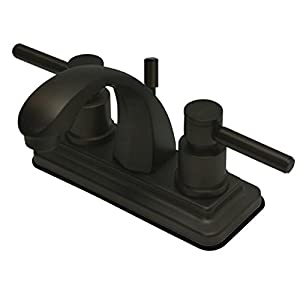Kingston Brass KS4645DL Concord 4-Inch Centerset Lavatory Faucet with Concord Lever Handle, Oil Rubbed Bronze