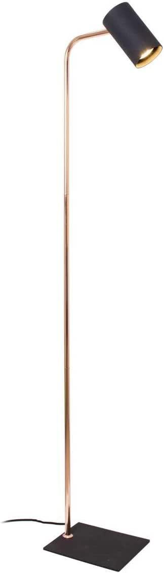 Lámpara de pie de diseño Sia Cobre y Negro de metal: Amazon.es: Iluminación