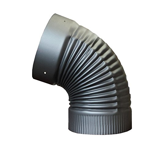 8in. x 45 Degree Fixed Elbow for Single Wall Stove Pipe