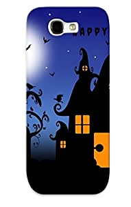 Crazinesswith Durable Defender Case For Galaxy Note 2 Tpu Cover(happy Halloween) Best Gift Choice