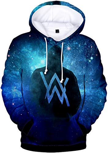 Bettydom Men's Women's Teen's Hoodies Alan Walker 3D Printed Sweatshirt (XXS,Galaxy Back)