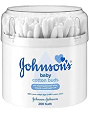 Johnson Baby Cotton Buds - Pack of 3, Total of 600 Buds