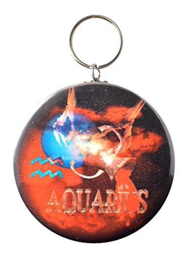 Gothic Aquarius Keychain Zodiac 1 20 To 2 21