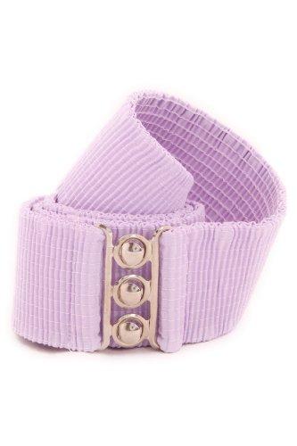 [Malco Modes Wide Elastic Cinch Waist Belt Stretch Belt for Women, Plus Sizes XX-Large Lilac] (Ruby Belted Belt)