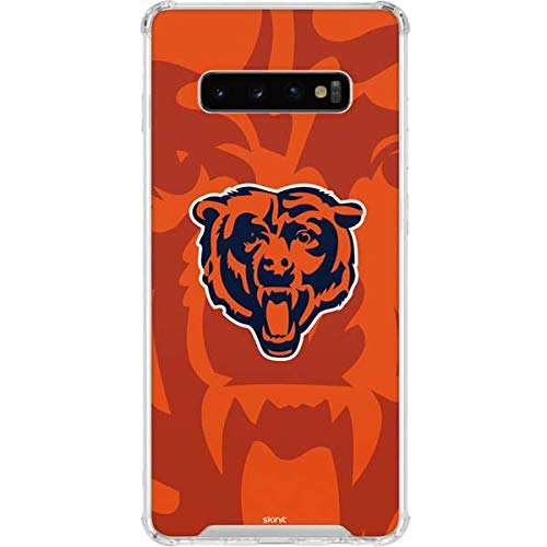 Skinit Chicago Bears Galaxy S10 Plus Clear Case - Officially Licensed NFL Phone Case - Transparent Galaxy S10+ Cover