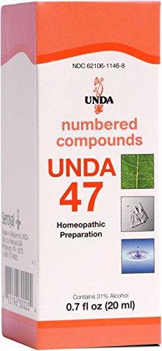 UNDA - UNDA 47 Numbered Compounds - Homeopathic Preparation - 0.7 fl oz (20 ml) ()