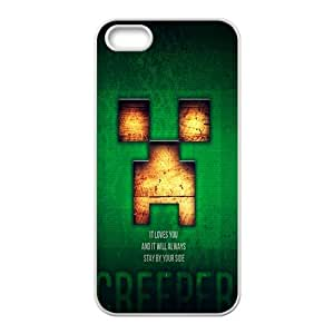 Happy Creeper Case Cover For iPhone 5S Case