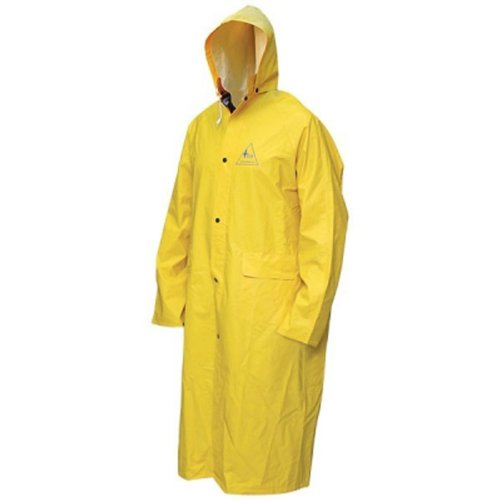 Bob Dale 95-1-901FRC-X4L Flame Resistant PVC Polyester Long Raincoat, 4X-Large, Yellow