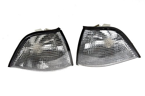 BMW 3 Series E36 2DR COUPE SMOKE Corner Lights Turn Signals PAIR 1991-1998 DEPO