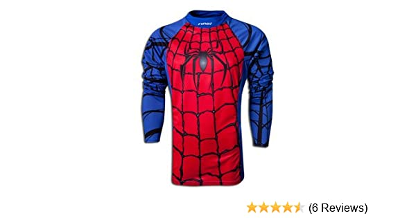 1dd0c0b5b05 Amazon.com : Rinat Widow Maker Spidey Soccer Goalie Jersey - Blue/Red-YL :  Clothing