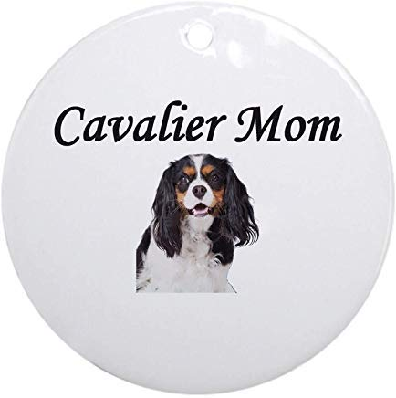 - Voicpobo Cavalier Mom Light Colors Christmas Ornaments Round Novelty Ceramic Christmas Tree Decoration Ornament Gifts for Friends,for Family