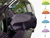 kinder Fluff car Mirror Cover (2X) – Biggest in The Market(15''x16 Possible(Water Proof 210T) – As ice and Snow Cover, UV/Sun and Bird Poop Protector- Side Mirror Covers Fits Car