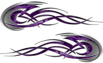 - Tribal Flames Motorcycle Tank Decal Kit in Purple Camouflage