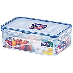 (Pack of 6) LOCK & LOCK Airtight Rectangular Food Storage Container 33.81-oz / 4.23-cup