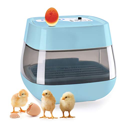 (HOMAKER Egg Incubator with Automatic Egg Turning, 16 Digital Fully Automatic Micao Mini Incubator for Chicken Eggs, Poultry Hatcher for Chickens Ducks Goose Birds)