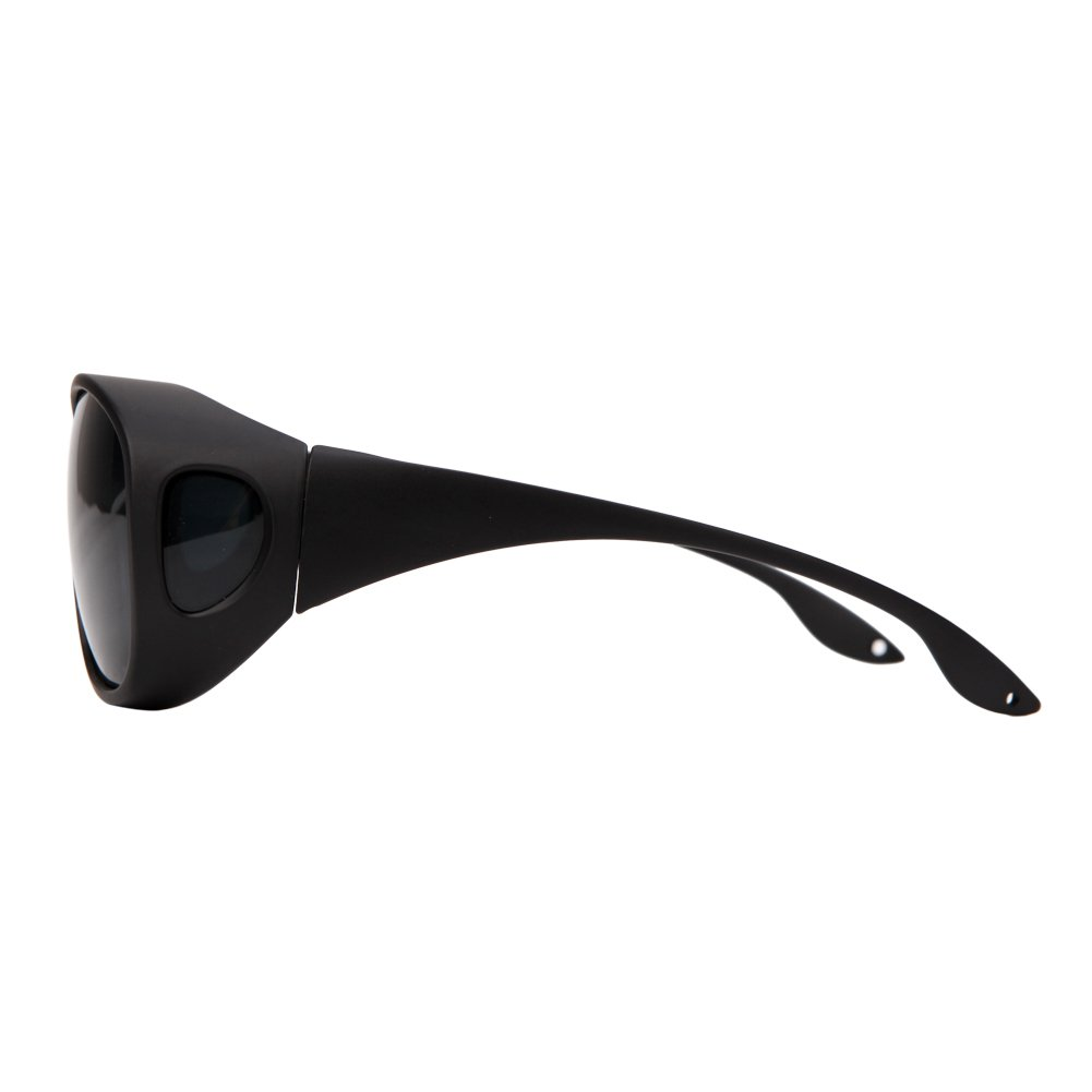 Solarfun Polarized Fit Over Glasses Sunglasses Wrap Around Solar Reduce Shield for Men and Women's Driving,Black by Solarfun (Image #4)