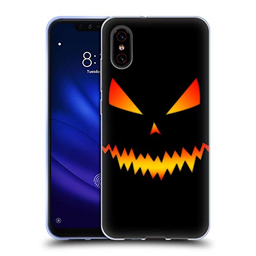 Official PLdesign Jack O Lantern Halloween Soft Gel Case Compatible for Xiaomi Mi 8 Pro -