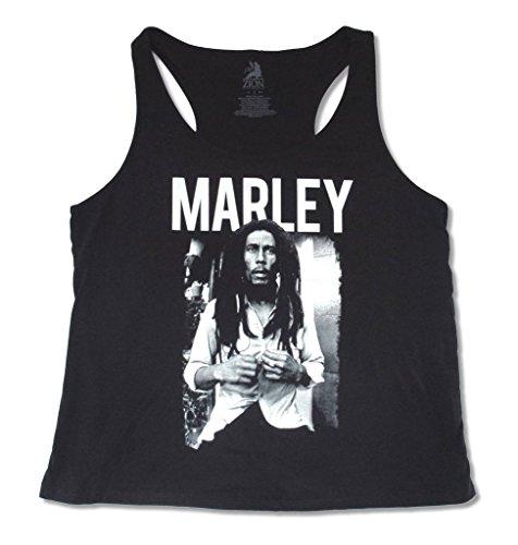 Bob Marley White Shirt Womens Black Plus Size Tank Top Shirt (Plus Size 0)