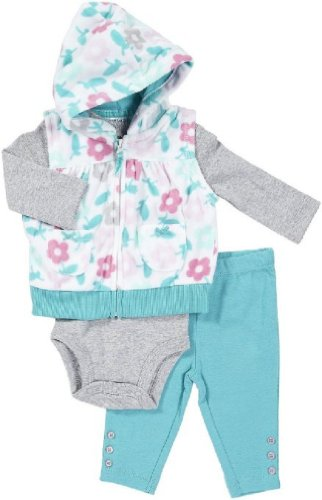Carter's Micro Vest - Turquoise Flowers- 12 Months