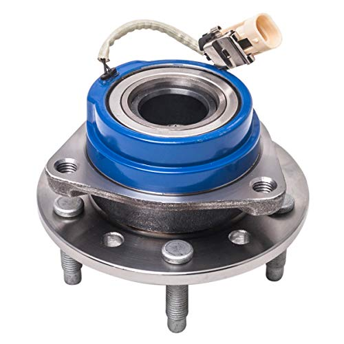 Front Wheel Hub and Bearing Assembly Left or Right Compatible Chevrolet Classic Malibu Alero Oldsmobile Cutlass Supreme Pontiac Grand Am AUQDD 513137 [ 5 Lug W/ABS ] ()