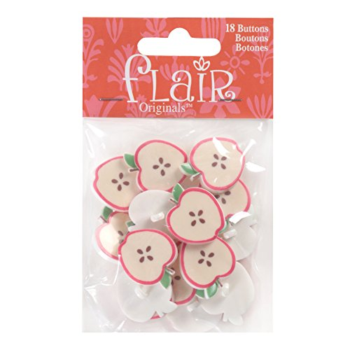 Blumenthal Lansing Company Apple Shaped Buttons for Arts Crafts & Sewing 18 Piece