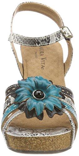 Laura Vita Women's Daisy 01 Ankle Strap Sandals Black (Noir Noir) VBJt7BFfW